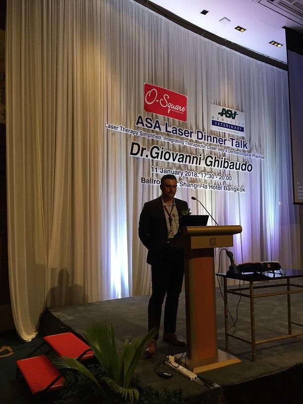 Dr Ghibaudo durante la seconda edizione di OSDVC 2018, Thailandia