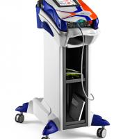 Mphi VET Trolley Orange | MLS Laser Therapy
