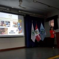 Dr. Paola Rojas de Orbegoso durante lo speech all'Universidad Ricardo Palma, Perù